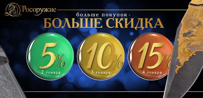 Скидка 5%, 10%, 15%