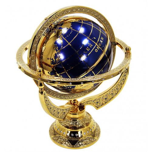 Глобус сувенирный (Фианит б/ц, Шпинель голубая)