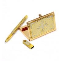 Набор подарочный (флешка, визитница,ручка)