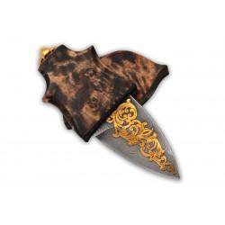 Нож - брелок(дамаск)