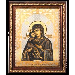 Гравюра Икона Владимирская Божия Матерь