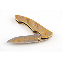 Нож Складной украшенный (орнамент)