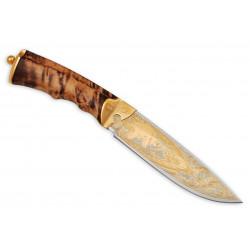 Нож Артыбаш украшенный (кожаные ножны)